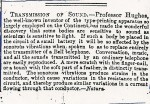 1. First announcement of DEH microphone in the Times April 30 1878