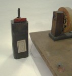 Battery and induction coil